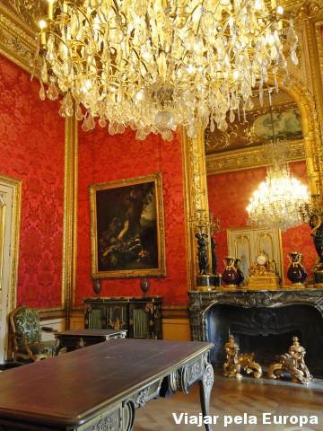 Um dos cômodos do apartamento de Napoleão