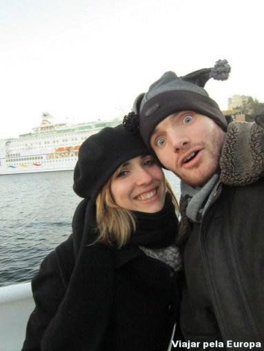 Passeando com os amigos em Estocolmo.