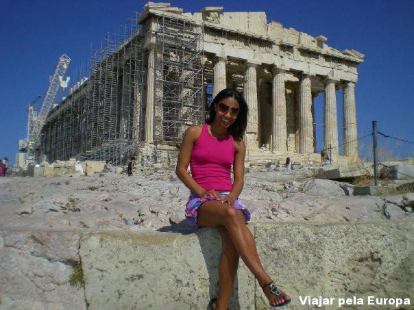 Paternon - Templo da Deusa Atena - Construído no século V a.C. - Atenas.