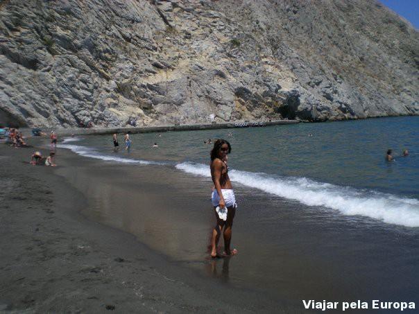 Praia na Grécia.
