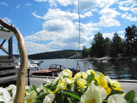 Ilha de Fjäderholmarna, localizada a 30km de Estocolmo, de barco.