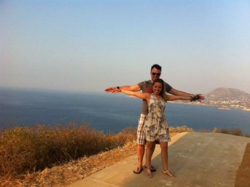 Gi Almeida e Daniel Kifarkis nas montanhas de Creta