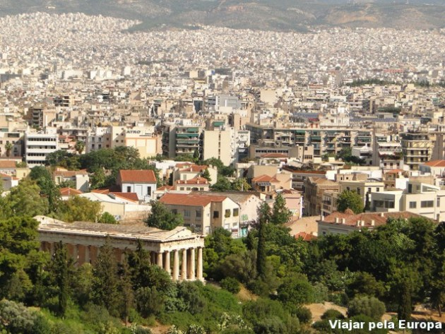 Vista para Atenas da Akropoli