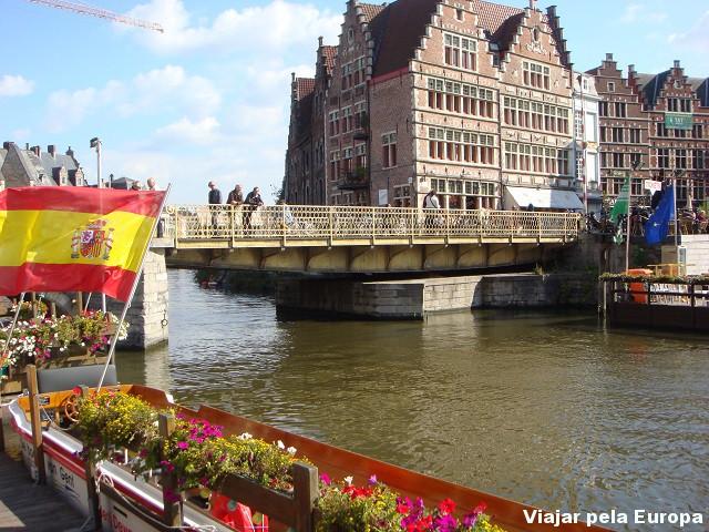 Canais de Gent, Bélgica.