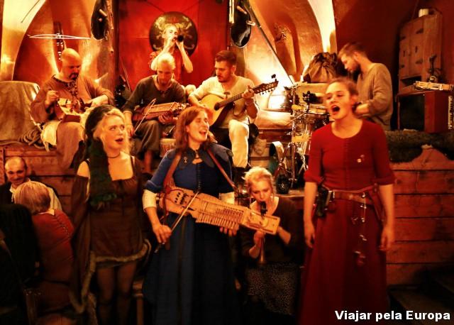 Festa tipicamente viking em Estocolmo.