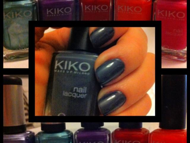 Minha pequena coleção de Esmaltes Kiko e o esmalte da semana - Cinza escuro Kiko nº82