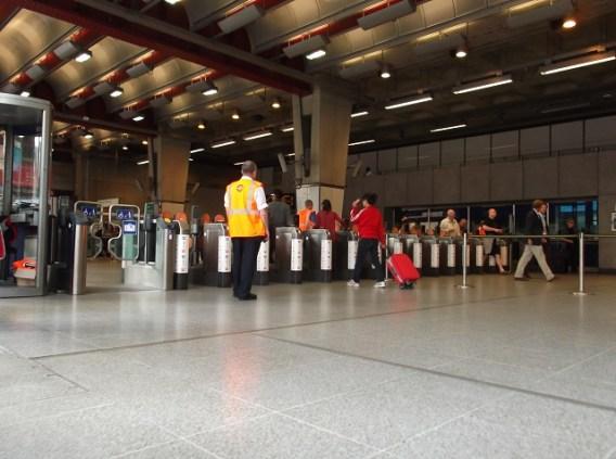 Estação de metro em Londres
