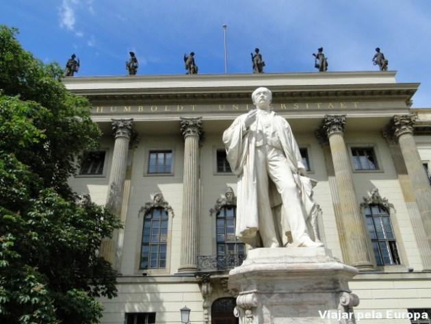 Amável arquitetura da Humboldt Universität