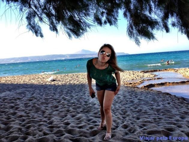 Praia de Kalyves em Creta. Adoro!