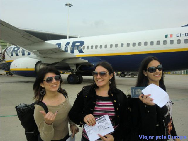 Naiara, Ramone e Carol quando viajar pela 1ª vez de Ryanair