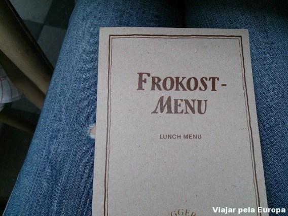 Menu do dia, restaurante Hereford Steak.