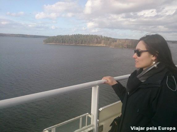 Vista do arquipélago de Estocolmo.