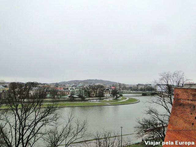 Rio visto do Castelo de Cracóvia. Divirta-se tirando fotos deste cenário!
