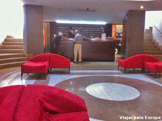 Recepção Ripa Hotel, Roma.
