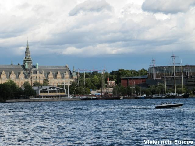 Djurgården vista do ferry.