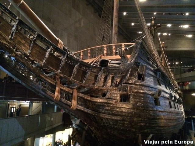 Foto tirada no primeiro andar do Museu Vasa.