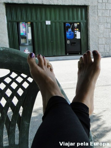 Pausa para descansar, deixar os pés respirarem e trocar as meias ;)