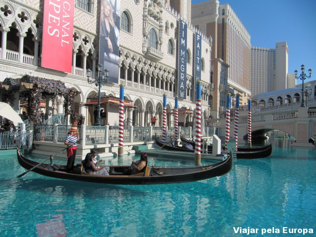 As gondolas de Vegas.