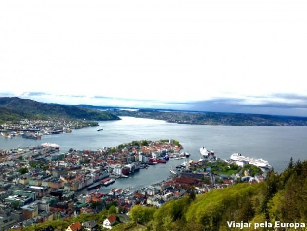 Bergen vista do Monte Floyen. Vista muito linda!