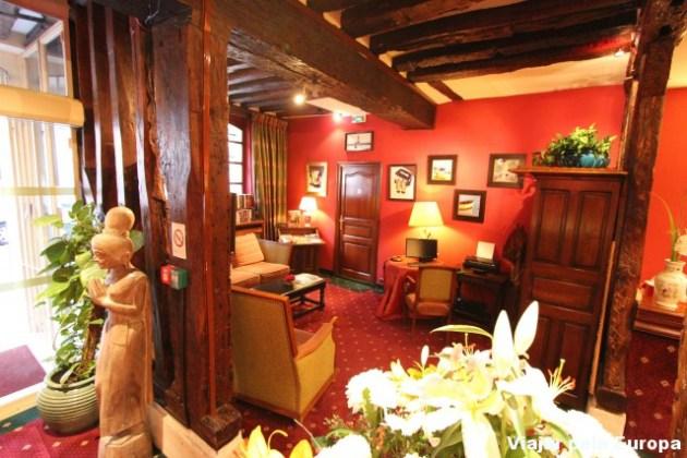 Recepção do Hotel de la Bretonnerie de Paris