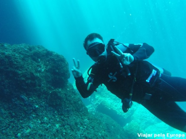 Daniel meu instrutor particular de mergulho :D