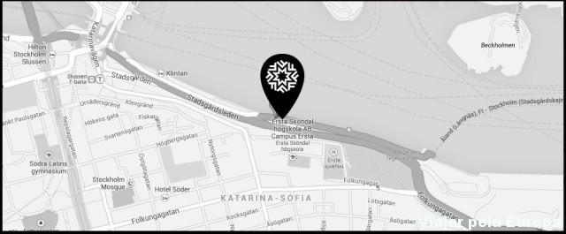Mapa para chegar ao Fotografiska!