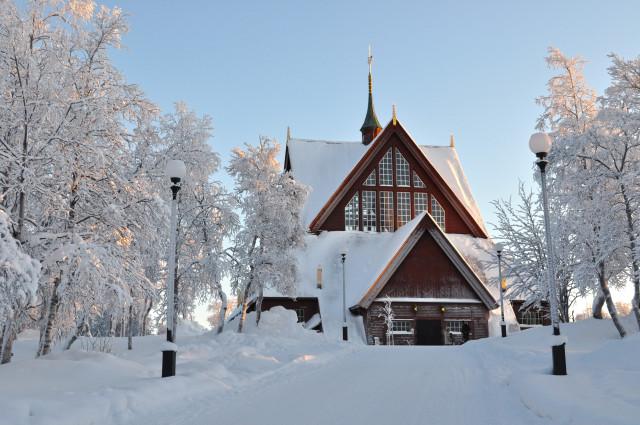 Igreja de Kiruna. Foto - Divulgação