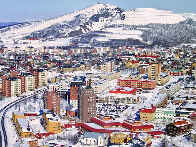 Vista Aérea de Kiruna. Foto - Divulgação