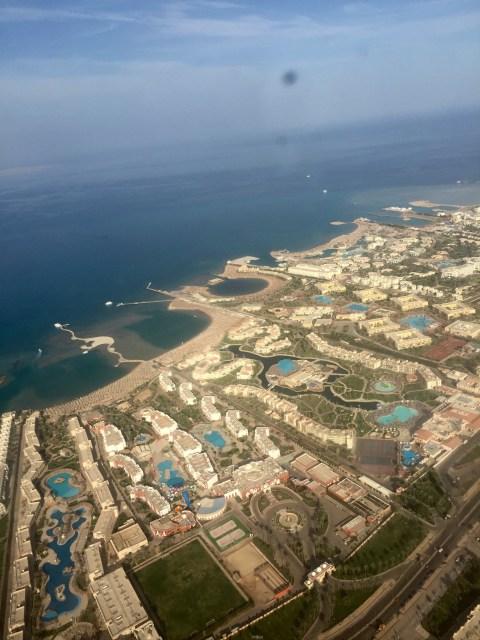 Landing in Hurghada