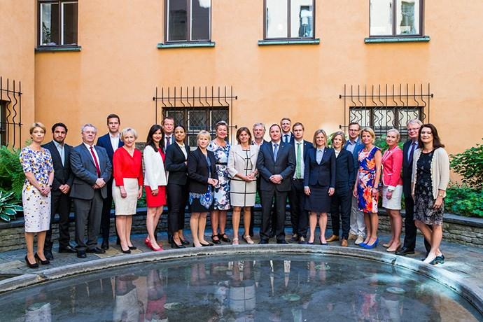 Ministros da Suécia - Foto por - Kristian Pohl