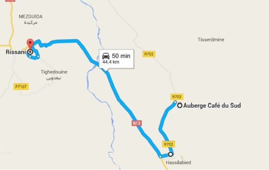 mapa auberge