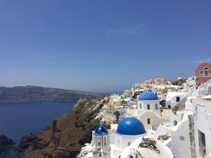 viagem para Santorini