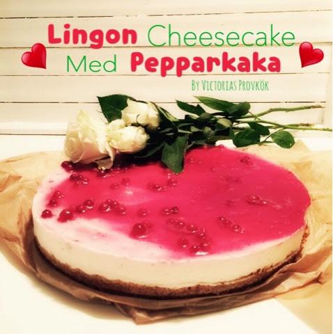 cheesecake pepparkaka lingon