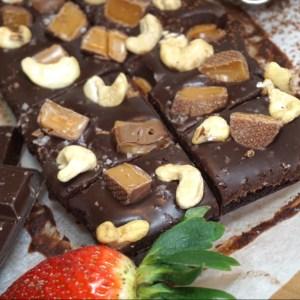 Choklad brownie med krämig fudge