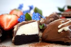 Browniebiskvier med mjölkchoklad