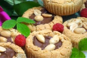 Spröda nutella och jordnötskakor