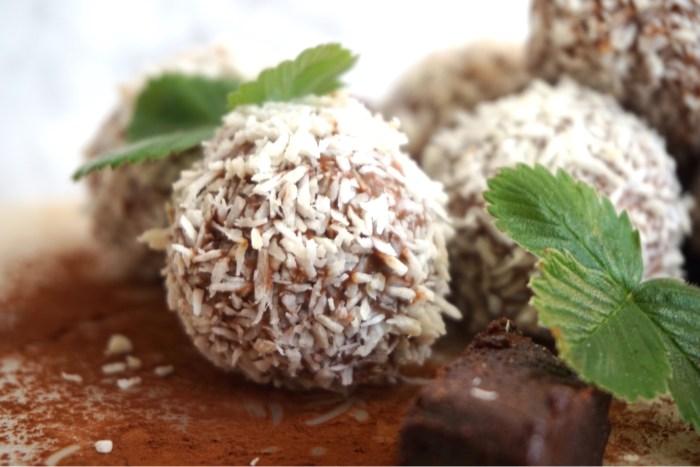Browniefyllda chokladbollar med mjölkchoklad
