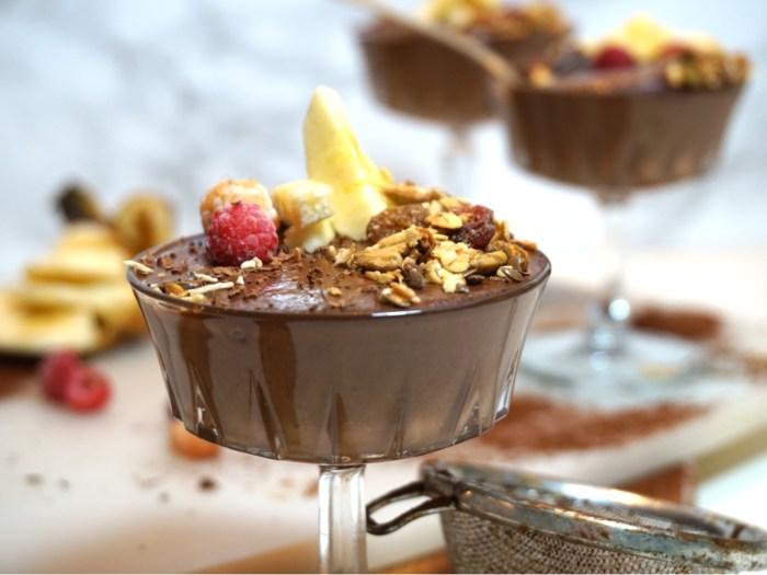 Nyttig chokladpudding med chiafrön