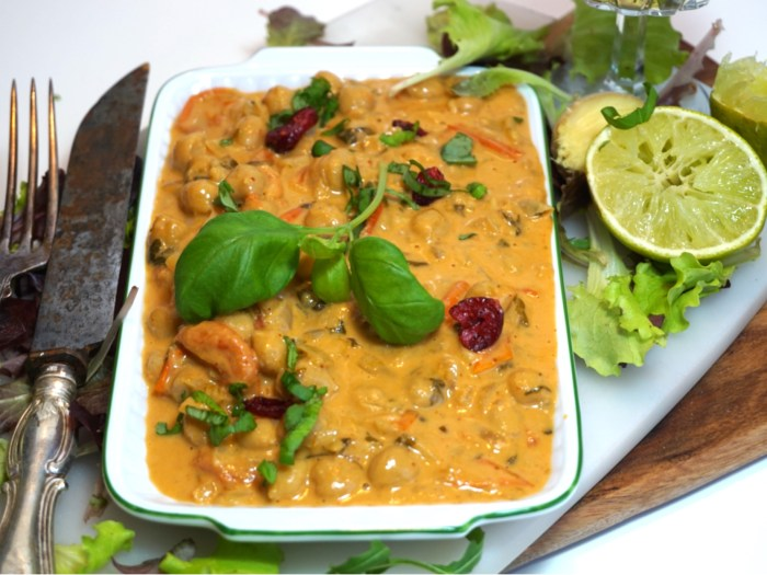 Het kikärtsgryta med red curry