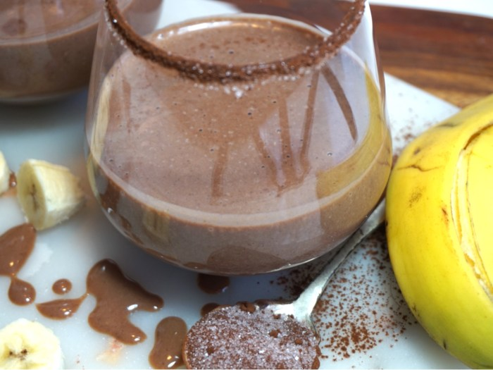 Healthy chocolate chia smoothie