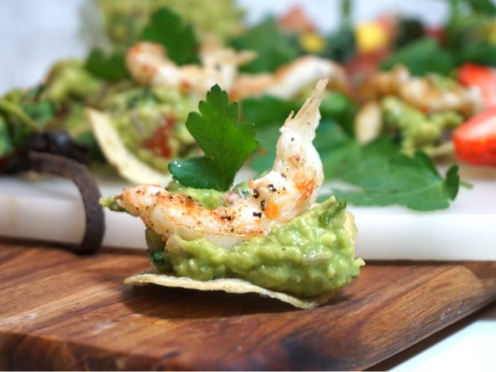 Fingerfoods - guacamole med brynt havskräfta