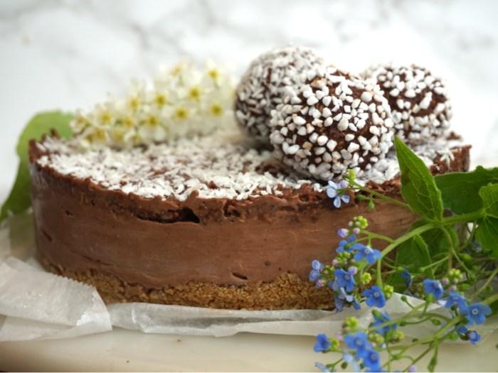 Frusen chokladbollscheesecake