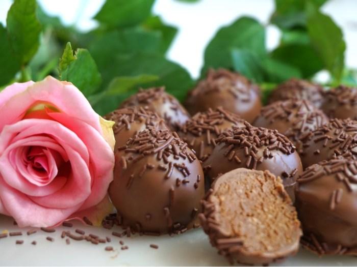 Nougat cakeballs med mjölkchoklad
