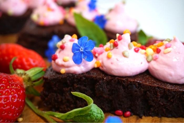Jordgubbs- brownie