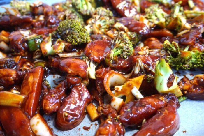 Asiatisk kyckling med broccoli
