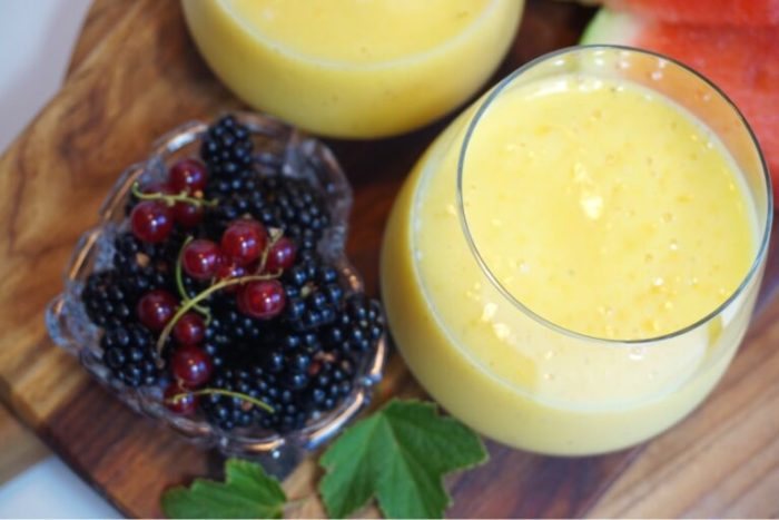 Sweet mango smoothie