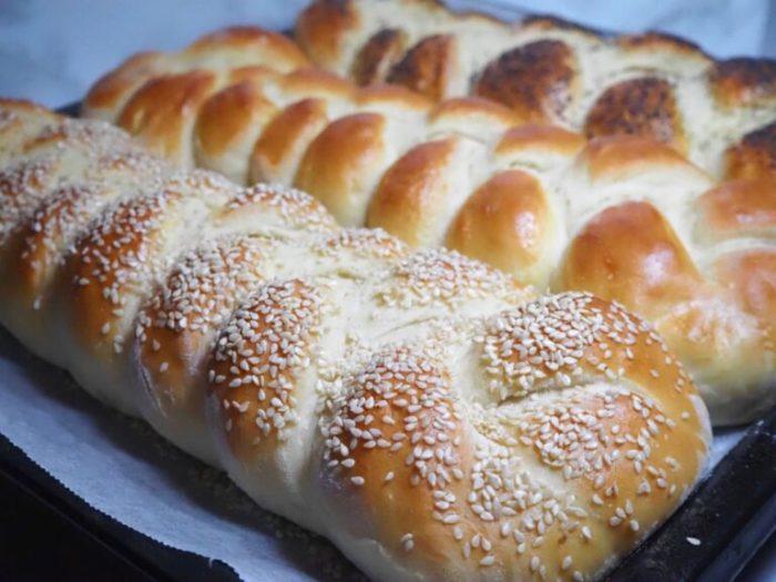 Fluffiga brödflätor
