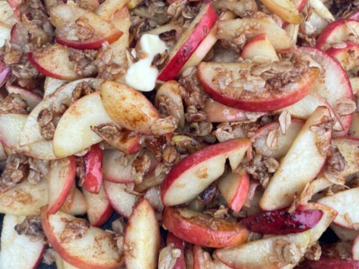 Grillat Äppelmums