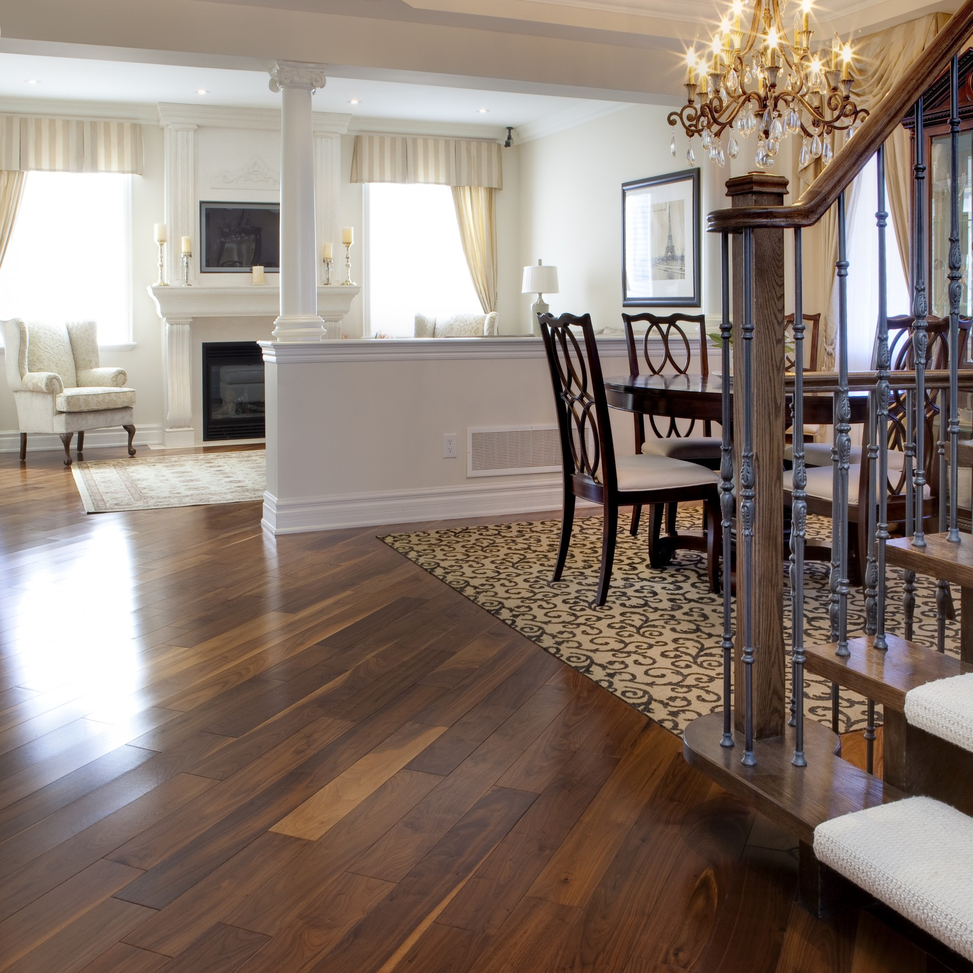 Smooth Black Walnut Natural  Vintage Hardwood Flooring