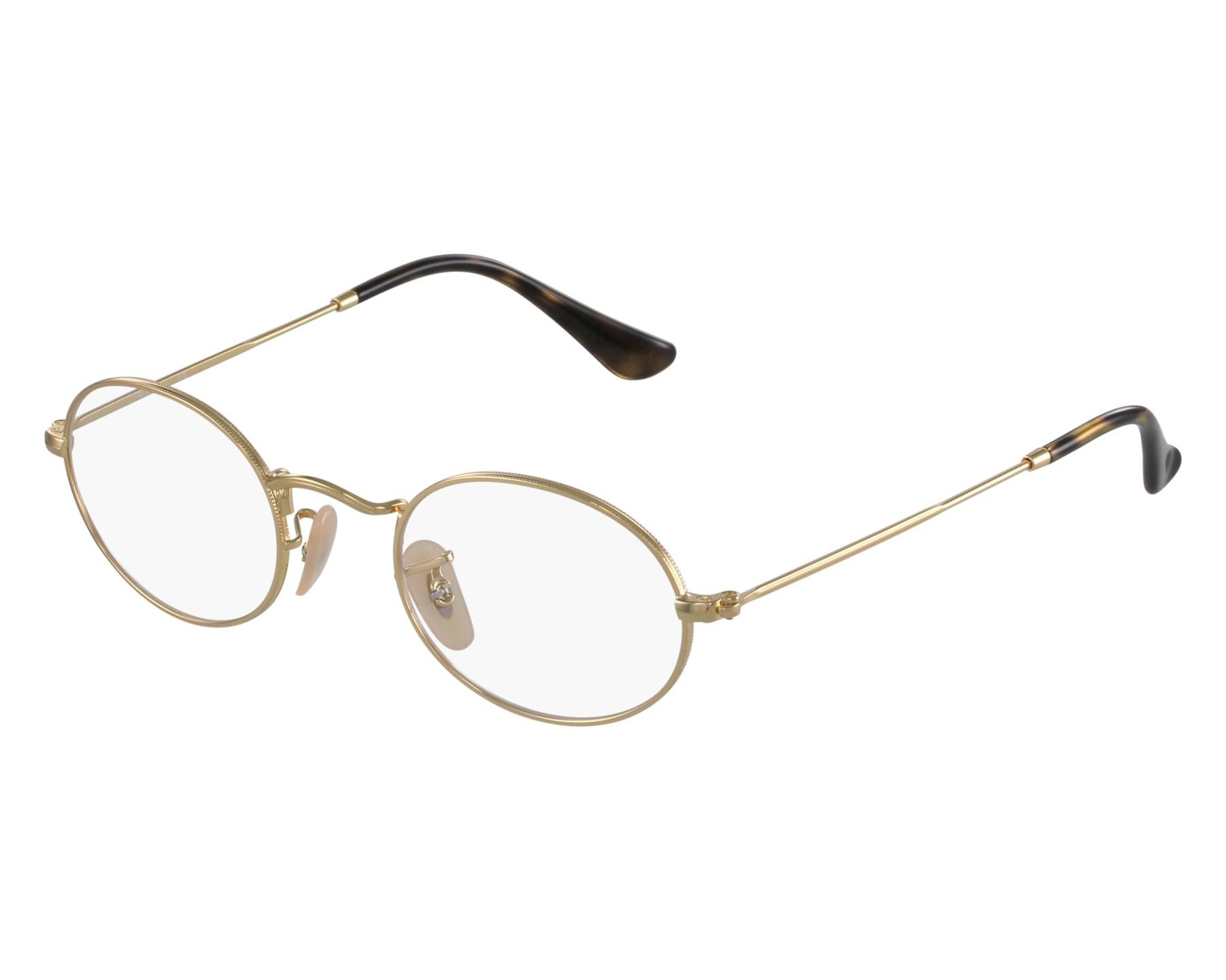 Ray Ban Eyeglasses Rx Gold